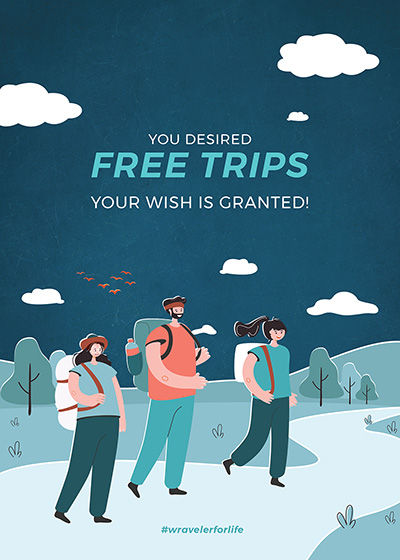 Get upto inr. 7,000/- cashback on any booking of Fixed Group Departures Winter Trips and Treks