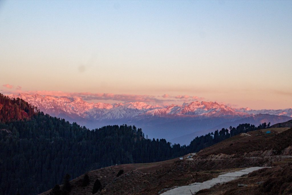 Sunset from Prashar Lake