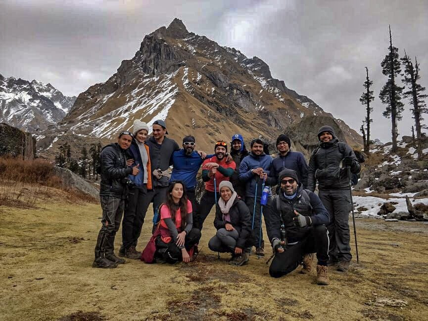Group at Har ki Dun trek