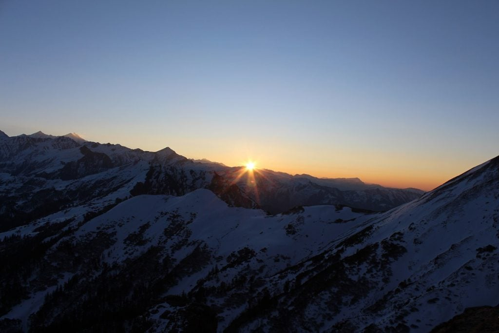 Sunrise from kedarkantha summit- justwravel
