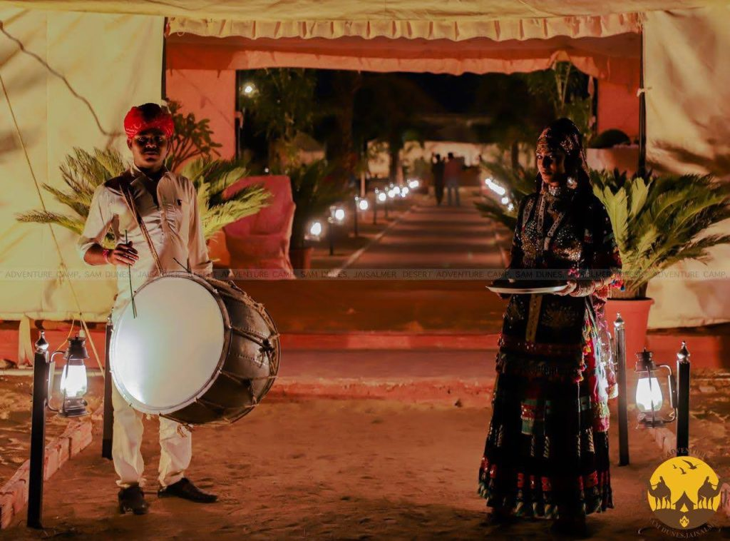 A warm welcome depicting Rajasthan Tourism at its best.