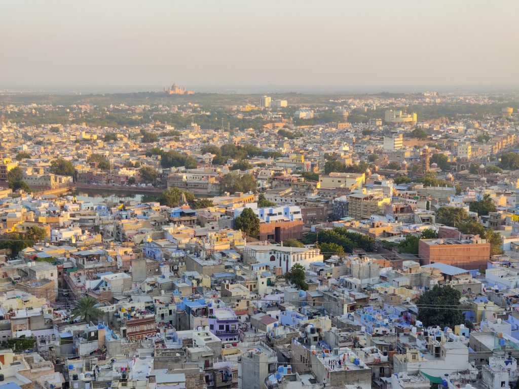 A view of Jodhpur - The Blue City amidst sunset