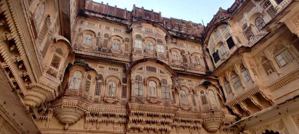 Marvelous architecture of Mehrangarh Fort. Best of Rajasthan Tourism.