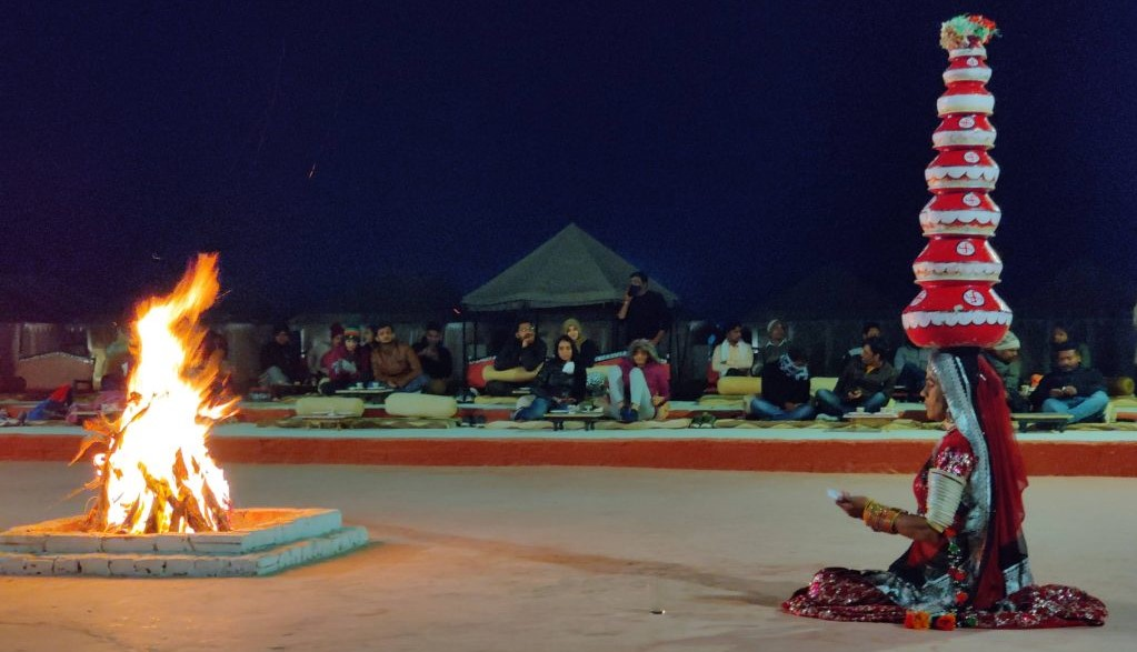 Showcasing the best of Rajasthan Tourism through the cultural evening in the desert