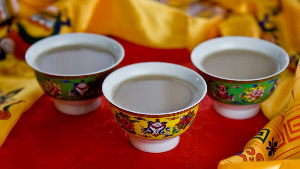 Specialty of Ladakh. Butter tea to keep you warm.