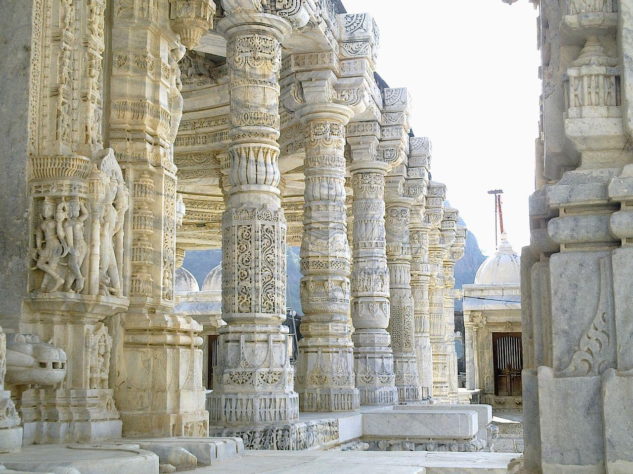 Pillers of Mirpur Temple Mount Abu
