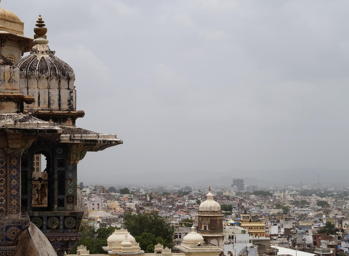 Udaipur City View From City Palace Udaipur