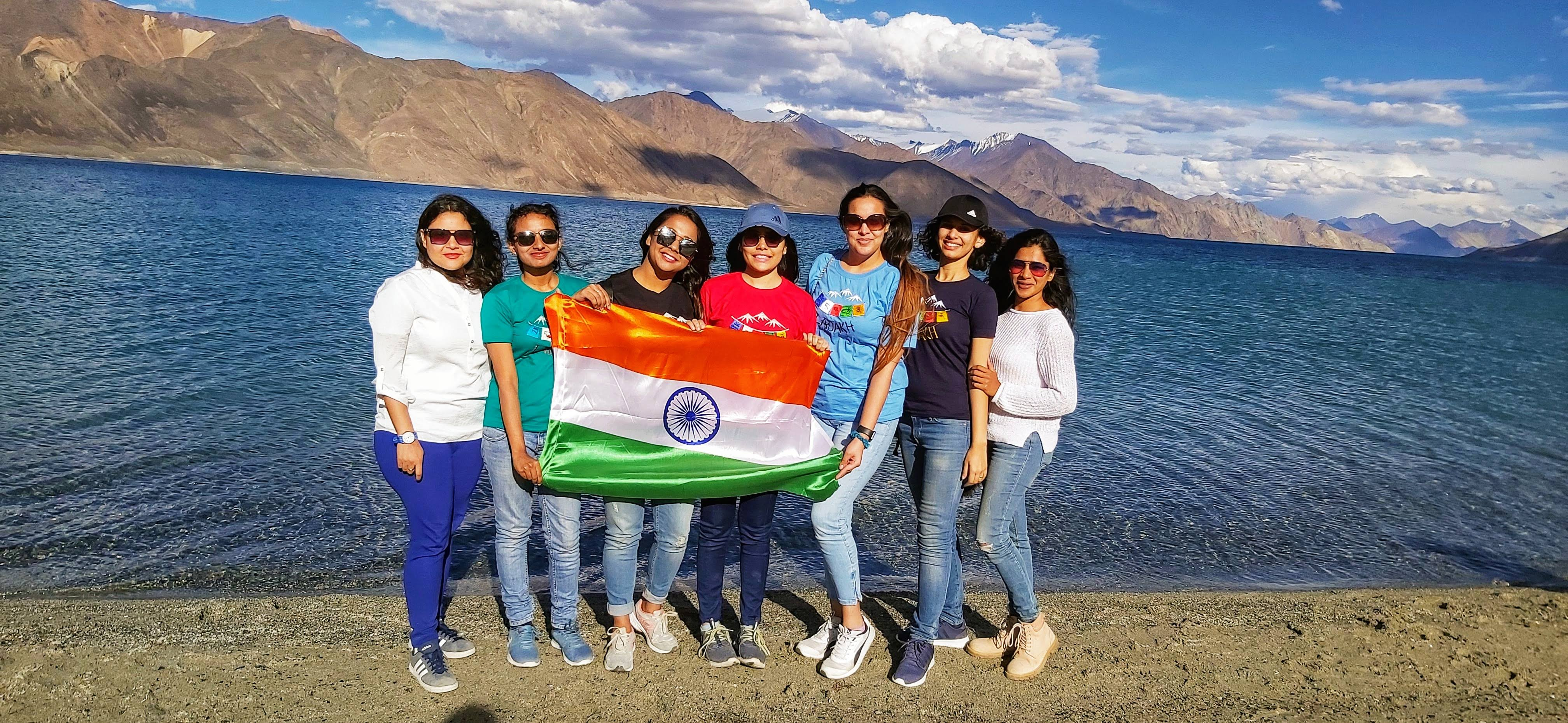 Independence Day at Pangong Lake