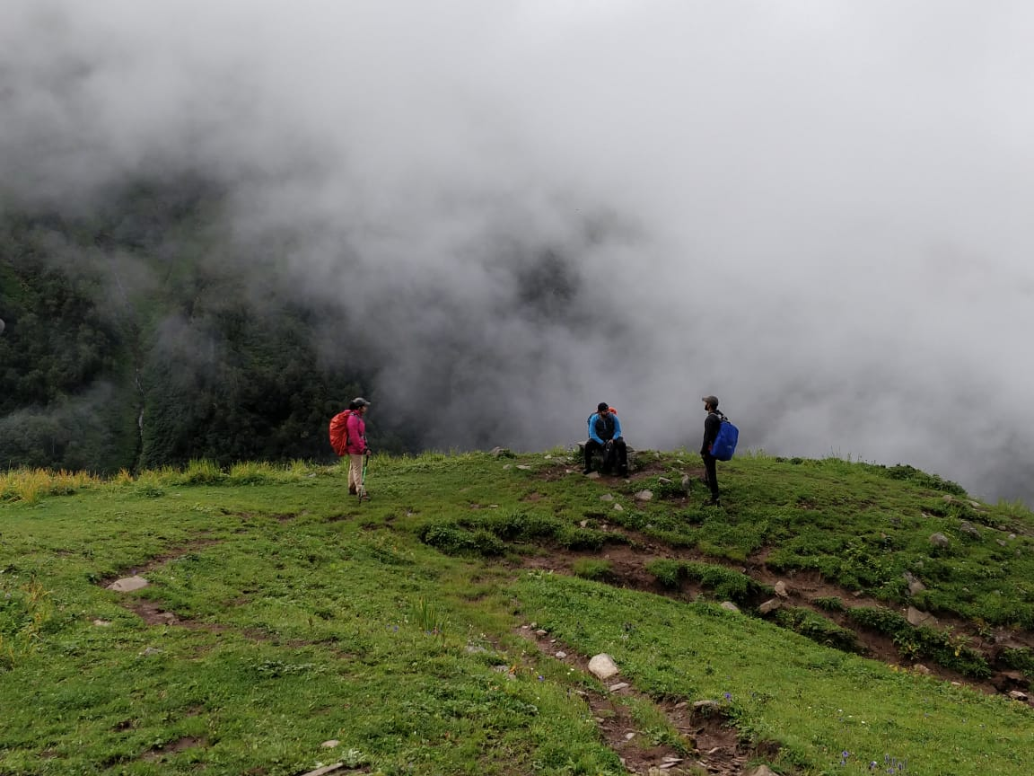 Trail to Bhrigu Lake