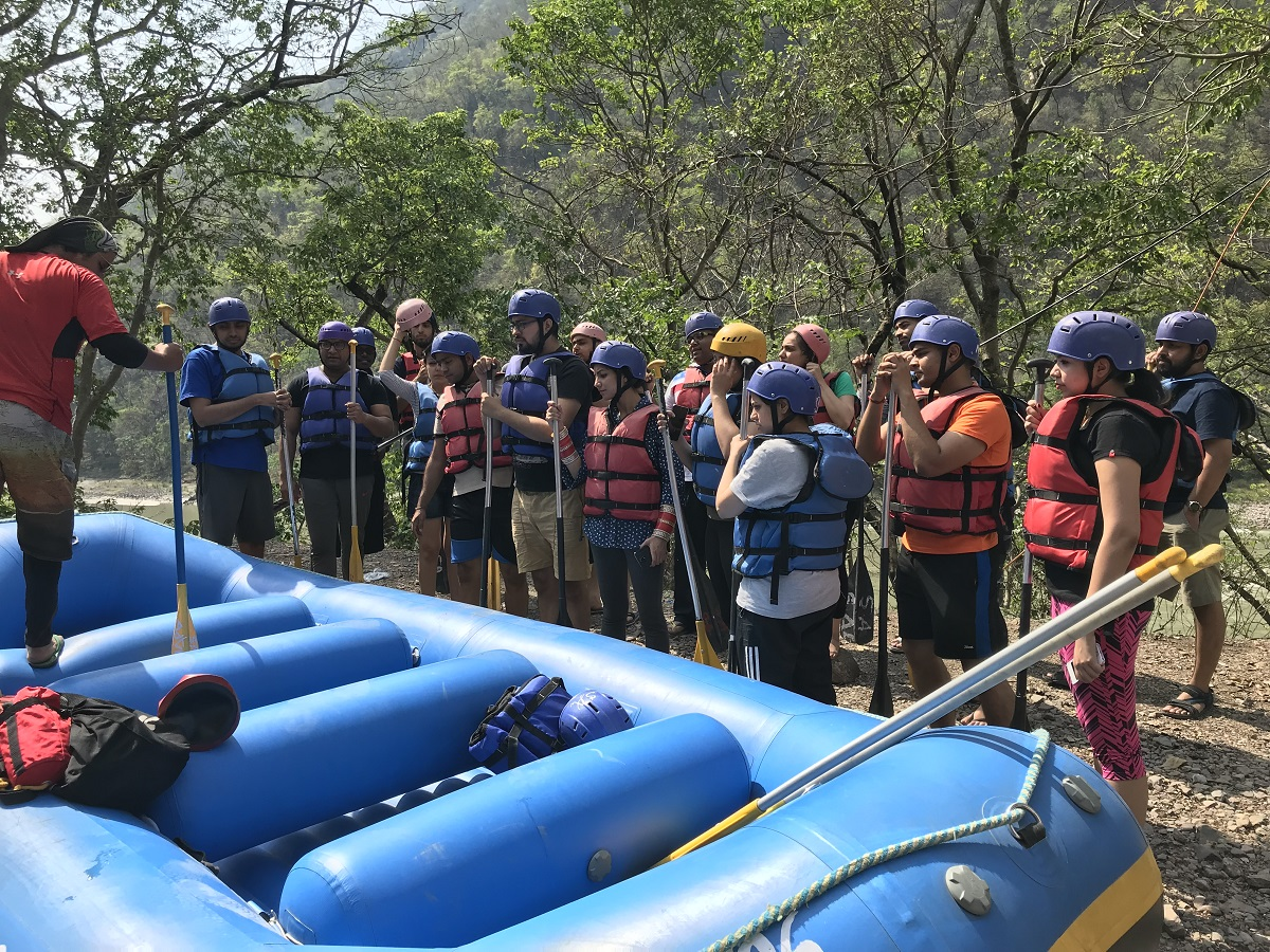 Group ready for rafting