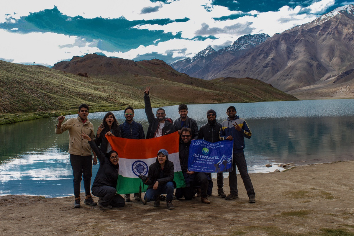 After crossing Hampta Pass to Chandrataal Lake