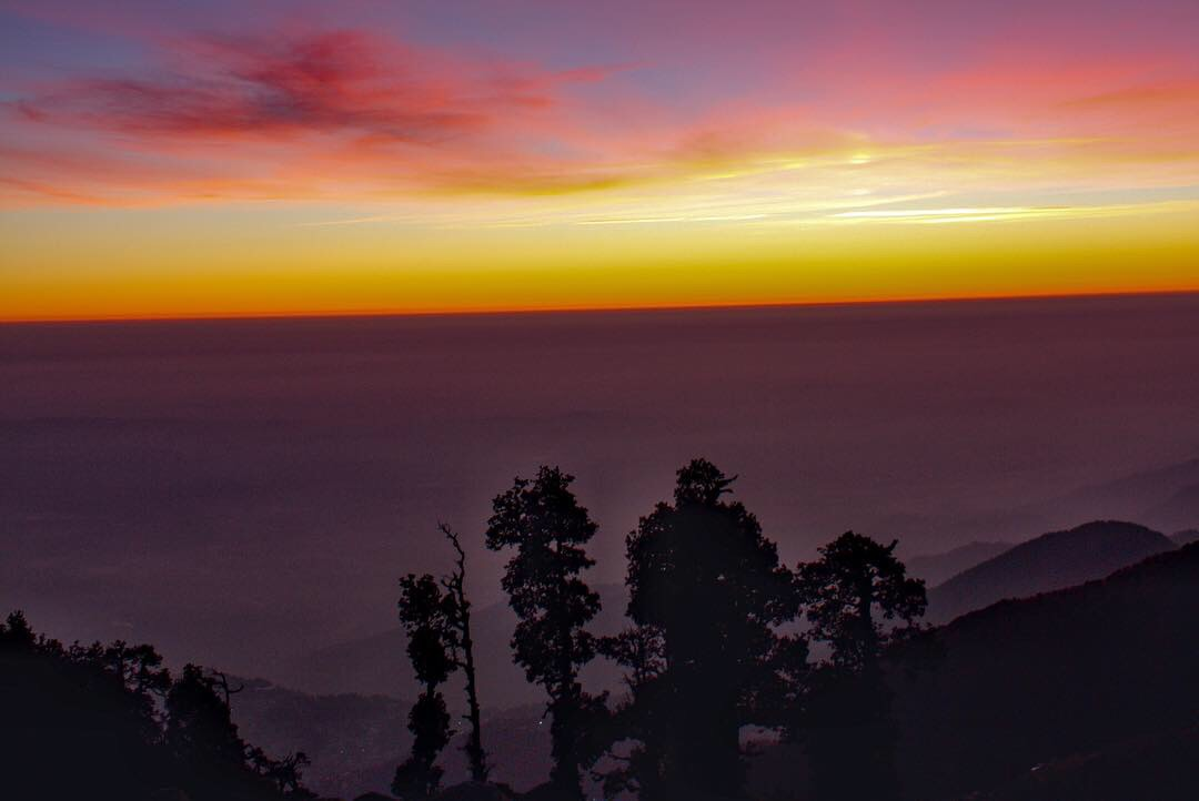 Winter Line visible from Triund