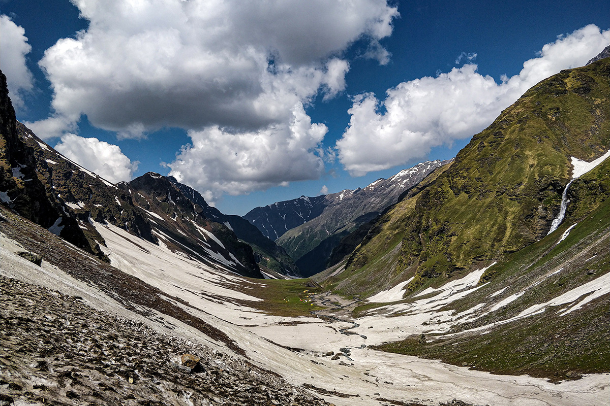View from upper waterfall / Rupin Pass/Captured in June