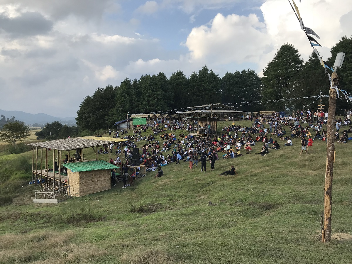 Day stage at Ziro Festival of Music