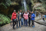 Group at Jibhi waterfall