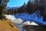 Almost frozen Lake