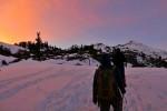 Sunset during Trek