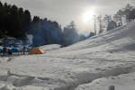 Snow Covered campsite near Parashar Lake