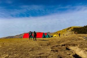 campsite on Bhramatal Trek