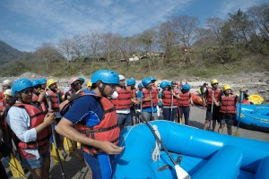 Instructions before Rafting
