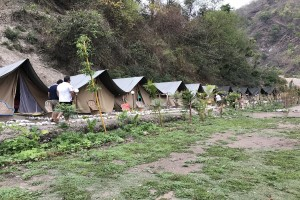Campsite in Rishikesh