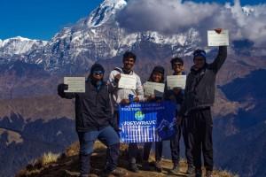 Group to Brahmatal at Summit