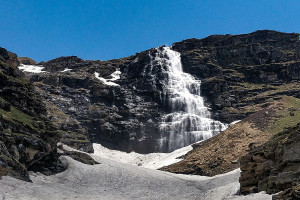 Upper Waterfall/ Rupin Pass/Captured in June