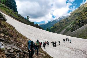 Glacier crossing / Rupin Pass/Captured in June