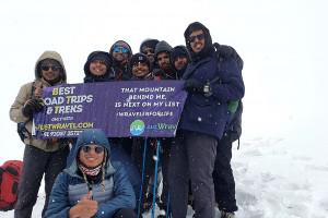 Rupin Top 4650 mtr / Rupin Pass/Captured in June