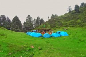 Camping Site at Parashar Lake