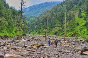 Starting our Trek from Baggi Village