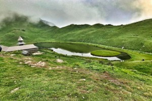 Parashar Lake after the cloud cleared