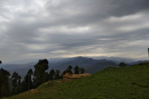 View from trail to Parashar Lake