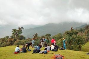 Lunch Break at Rohini Bugyal