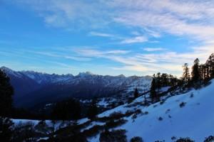 View of Peaks during Kedarkantha Trek