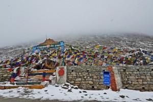 Snowfall at Changla