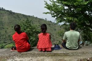 Enjoying the views on Nagtibba Trail