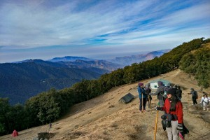 Trek to Summit from Temple