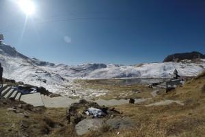 Snow covered Parashar lake