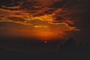 Sunset view from Parashar Lake