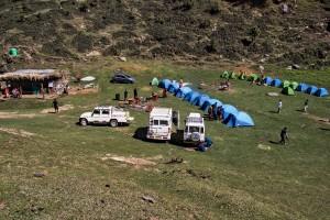 Campsite close to Parashar Lake