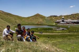 Guests at Parashar Lake