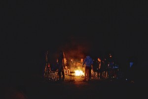 Bonfire at the Campsite