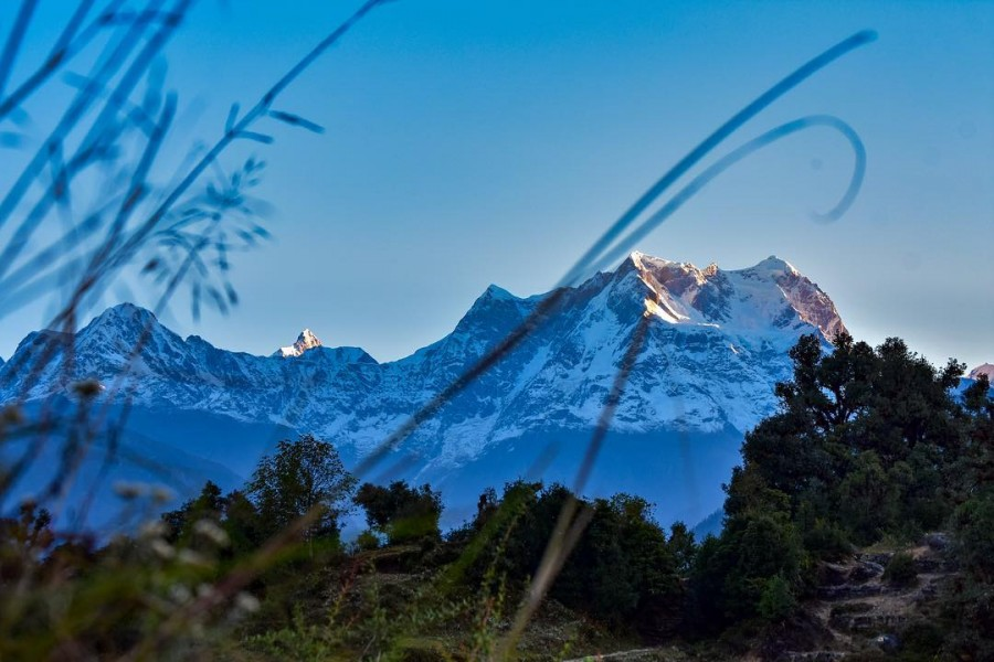 View of Chaukhamba from Deoriatal