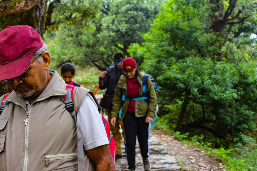Trail from Chopta to Tungnath