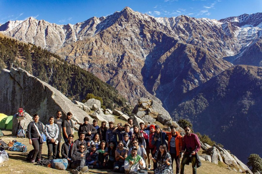 Group at Triund Top