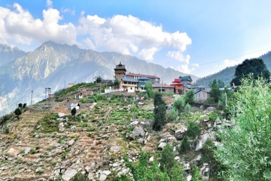 Secluded Village in Spiti Valley