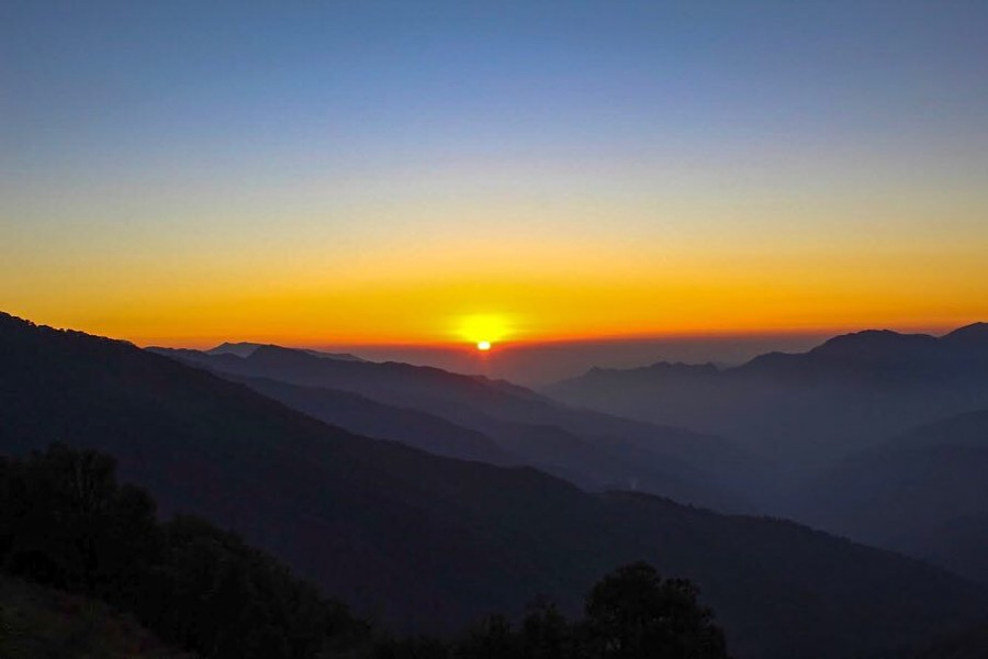 Sunset from the Nagtibba Basecamp